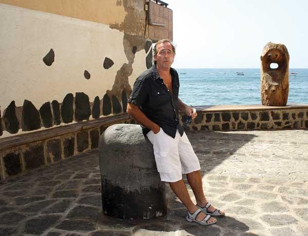 Roger Benedigt an einem seiner Lieblingsorte in El Médano