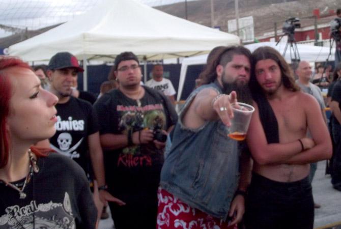 Metal-Fans auf Teneriffa