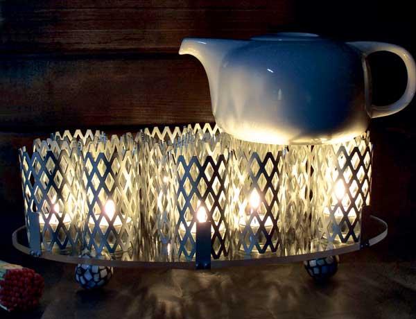 Prämiertes Stück der Ausschreibung 2010 – eine Rechaud, das auch einfach eine hübsche Teelicht-Tischdeko sein kann.