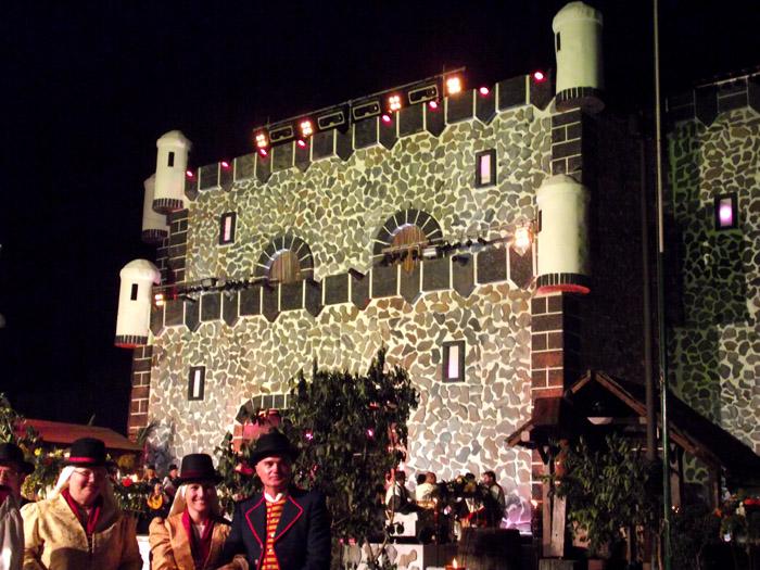 Das Rathaus als Burg