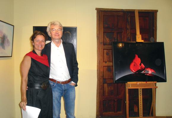 Mit ihrem Ehemann Bernhard Wohlgemuth eröffnete sie dessen Fotoausstellung in der Casa del Vino in El Sauzal im Juni diesen Jahres.