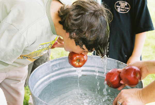 Bobbing for apples