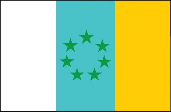 Die kanarische Fahne, die die Separatisten als die authentische beschreiben.