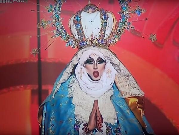 Drag Sethlas löste als Marienfigur verkleidet heftige Streitfragen darüber aus, wie weit der Karneval gehen darf.