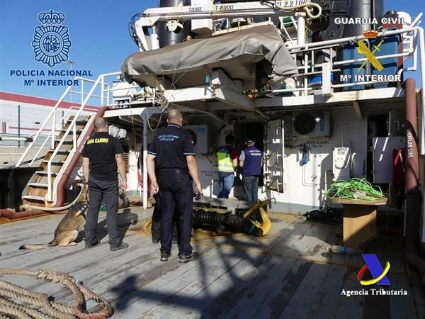 Die Drogen waren an Bord in einem zweiten Tank versteckt.