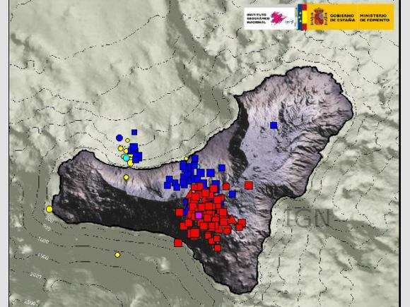 Beben der letzten drei Tage auf El Hierro
