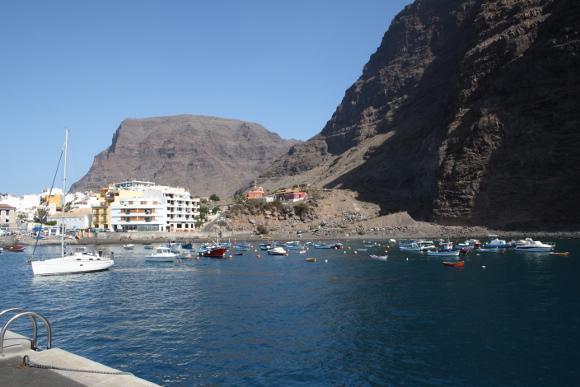 Die Playa de las Vueltas bei besserem Wetter.