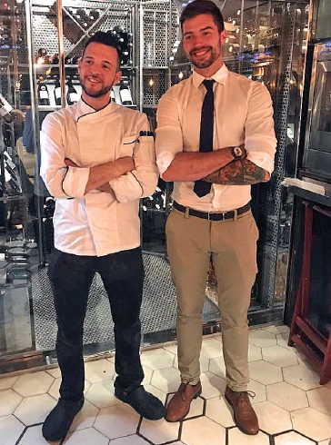 Balint and chef Francisco Alamo look after their guests with professionalism and charm