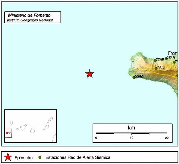 Das stärkste Beben lag vor der Westspitze El Hierros im Atlantik.