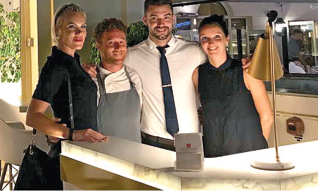 The hosts at Bianco, receptionist Martina, head chef Luca, head waiter Balint and accounts responsible Kristie (l-r)